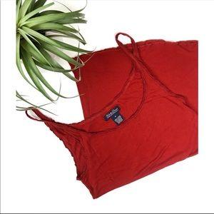 3/$25 Lucky Brand Brick Red Tank Top